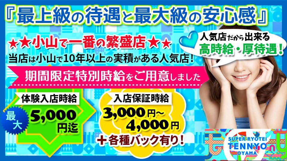 小山市 駅東通りセクキャバ求人 小山スーパー料亭天女の体験入店情報